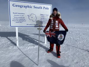 Guy Manning at the South Pole